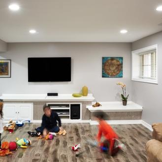 Finished Basement Living Room Milton