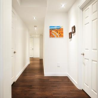 Basement Renovation Hallway
