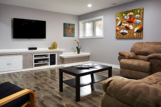 Finished Home Basement Renovation GTA