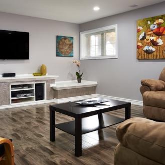Finished Home Basement Renovation GTA