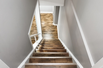 Finished Basement Renovated Staircase