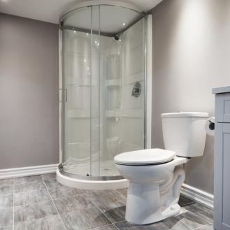 Finished Bathroom Renovation Basement GTA